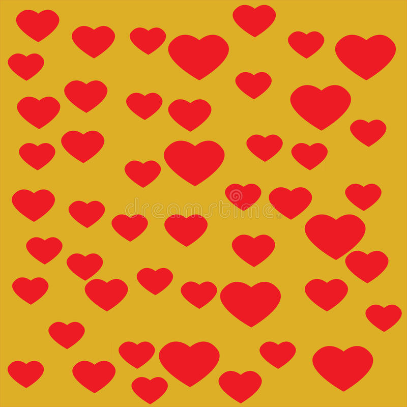 Heart with yellow background. Red Heart with yellow background vector illustration