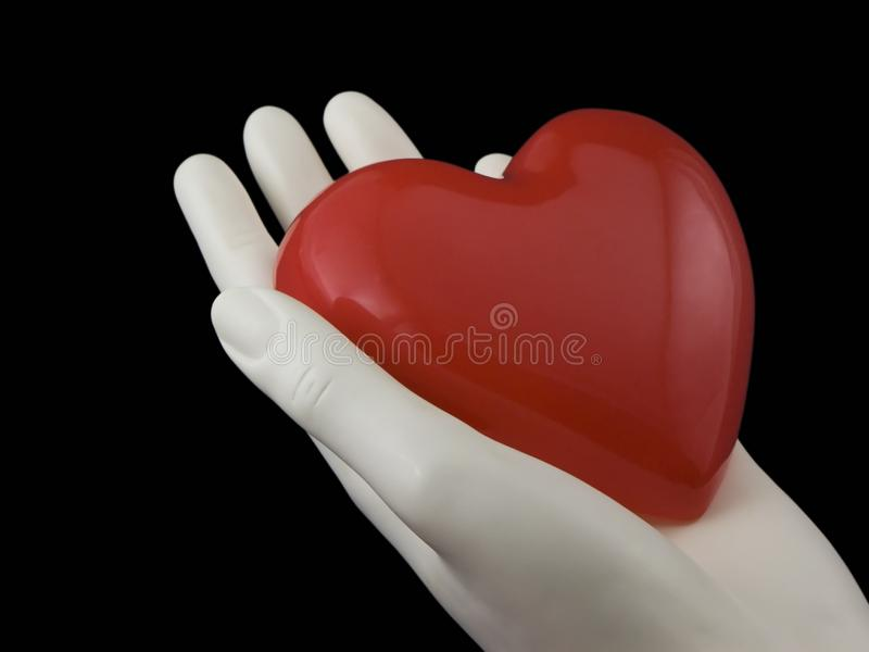 Heart in your hand royalty free stock image