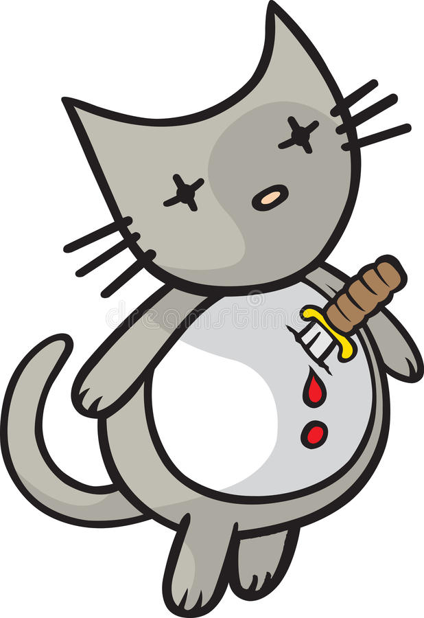Download Heartache Kitty stock vector. Image of stab, puncture - 27318113