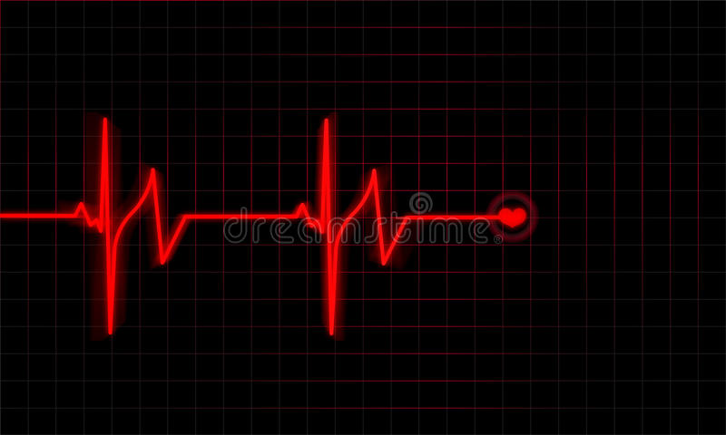 Heartbeat vector illustration
