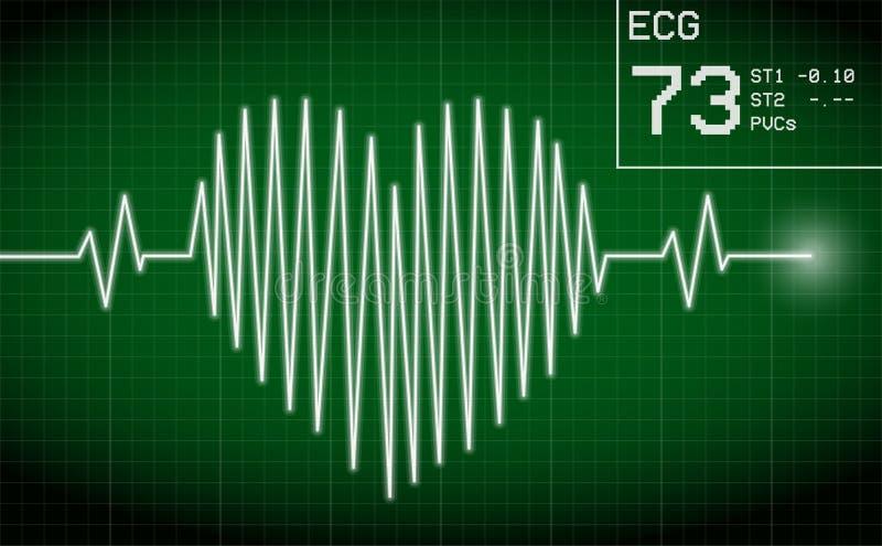 heartbeat ilustração royalty free