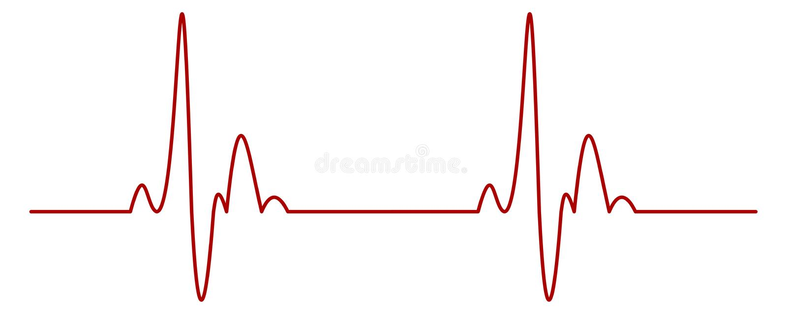 Heartbeat. Isolated illustration of a heartbeat ekg stock illustration