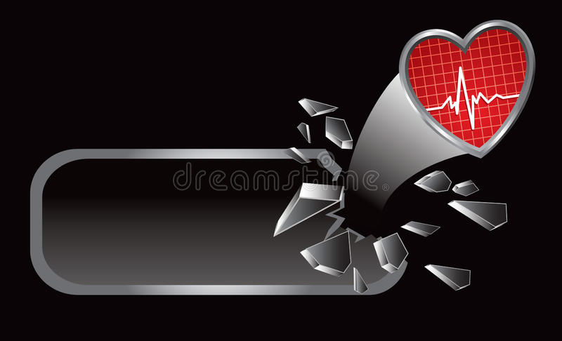 Download Heartbeat on broken banner stock vector. Image of button - 11625242