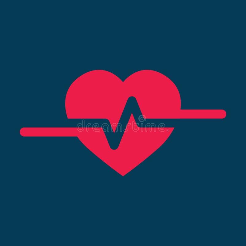 Heartbeat Cardio ecg or ekg. Illustration of Heartbeat Heart Shape Pulse Cardio ecg or ekg vector illustration