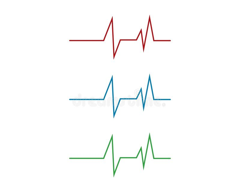 Heartbeat Cardiogram Icon. Vector Logo Template stock illustration