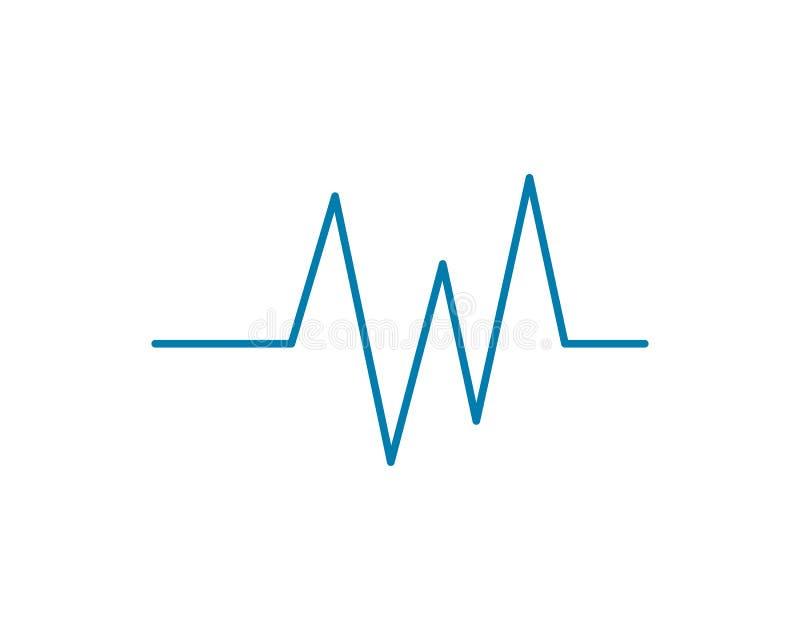 Heartbeat Cardiogram Icon. Vector Logo Template vector illustration