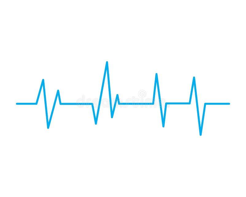 Heartbeat Cardiogram Icon. Vector Logo Template royalty free illustration