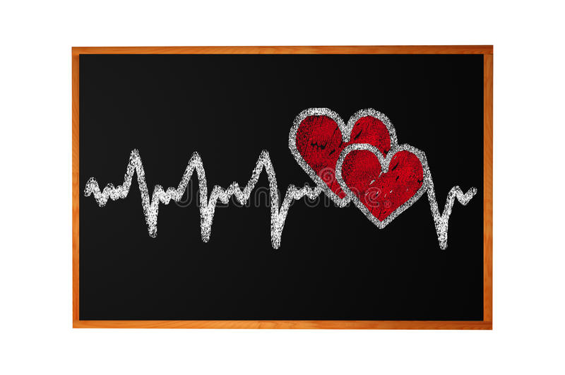 Heartbeat character and design, love heart stock illustration