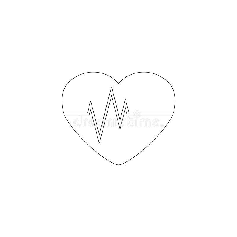 heartbeat ?cone liso do vetor ilustração stock