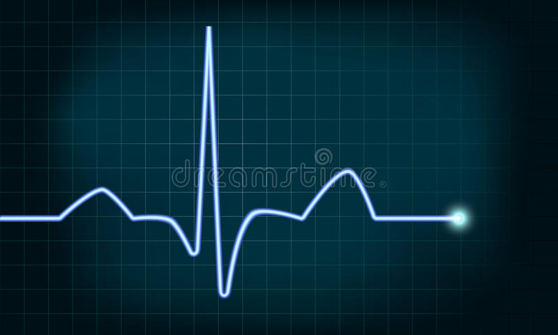 Heartbeat curve royalty free illustration