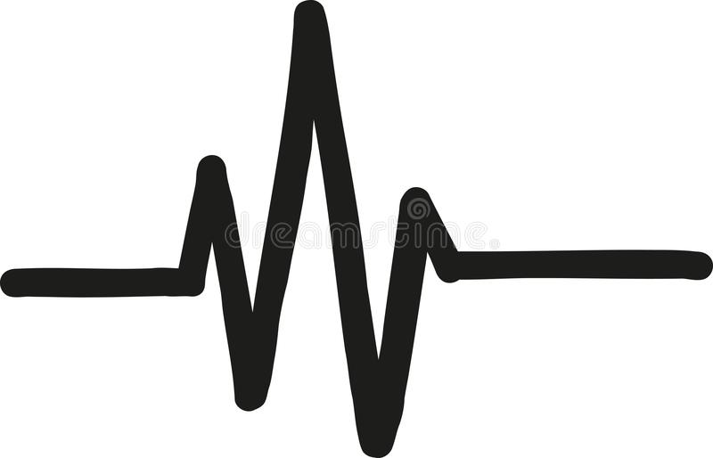 Heartbeat fat icon. Music vector stock illustration