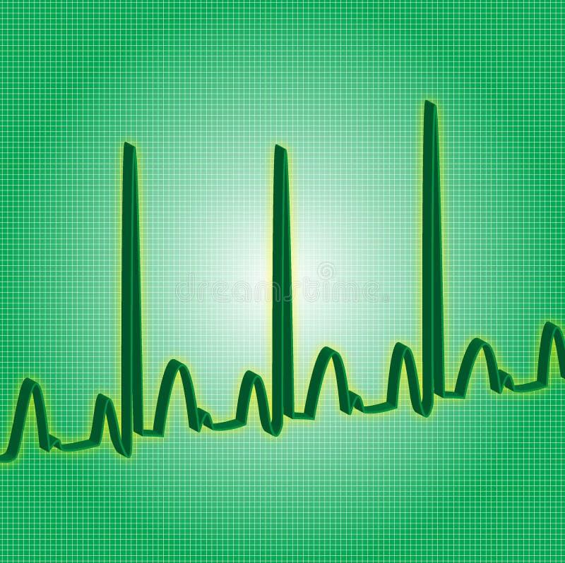 Heartbeat green stock photo