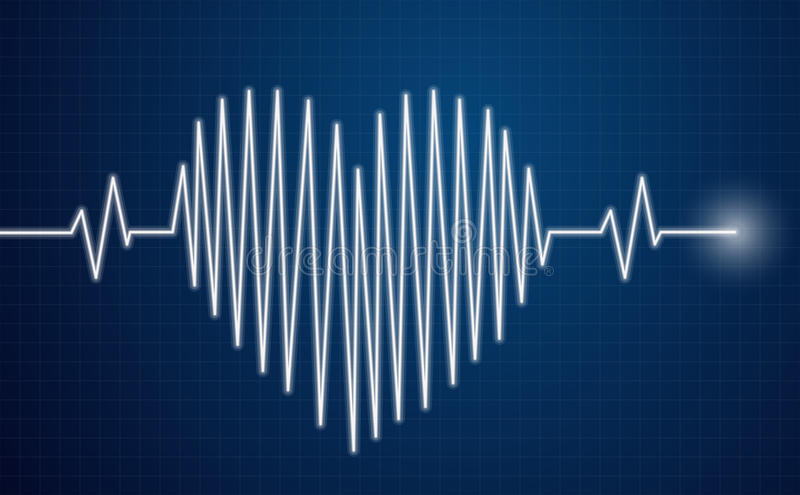 Heartbeat. Heart health cardiology concept vector illustration
