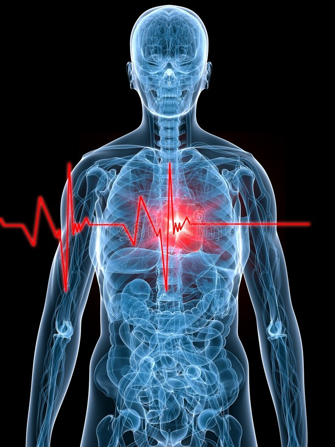 Heartbeat/heartattack royalty free illustration