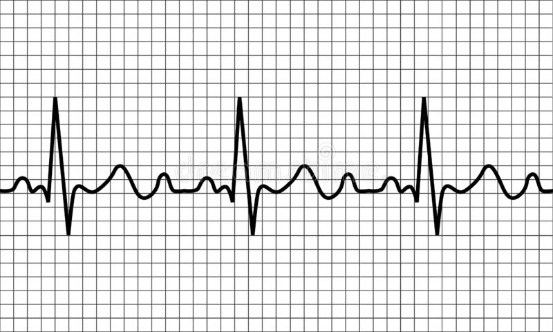 heartbeat icon. ECG Pathology Trace royalty free illustration