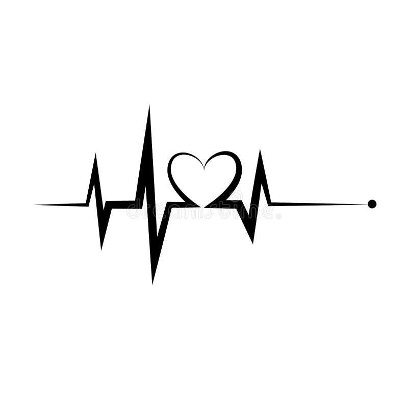 Heartbeat Icon. Electrocardiogram, Ecg Or Ekg Isolated On