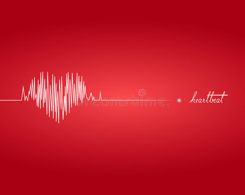 Heartbeat. Illustration of heartbeat with graph vector illustration