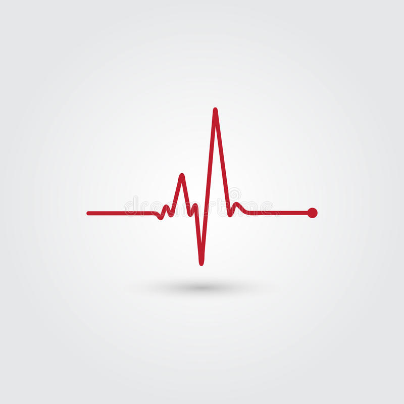 Heartbeat illustration. On light background royalty free illustration