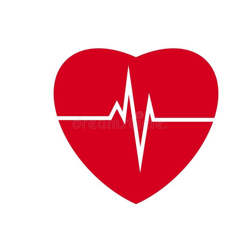 heartbeat Ilustração do coração ilustração royalty free