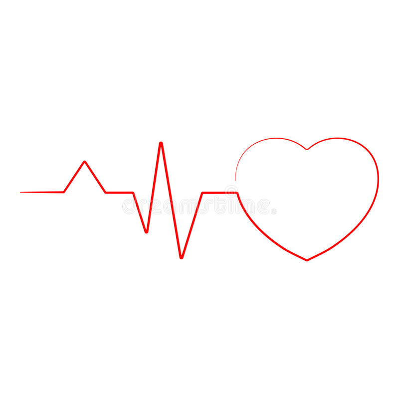 Heartbeat Line Heart Cardio Ekg Isolated On A Background. Realistic Vector Illustration. Healthcare vector illustration