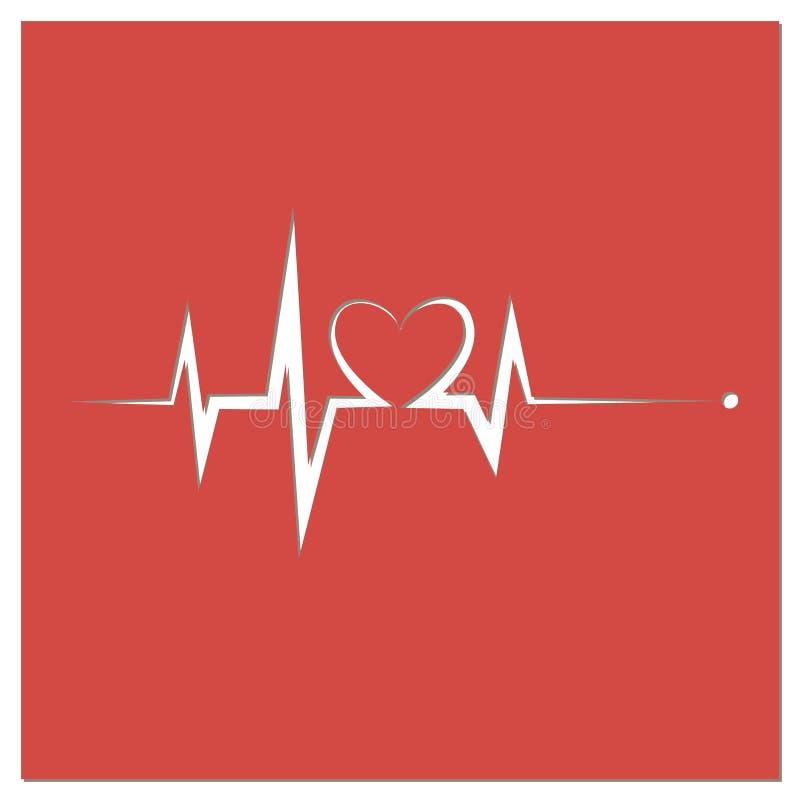 Heartbeat Line Heart Cardio stock photos