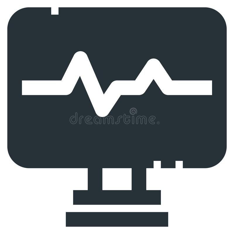 Heartbeat Monitor Vector Line Icon 32x32 Pixel Perfect. Editable. 2 Pixel Stroke Weight. Medical Health Icon for Website Mobile App Presentation vector illustration