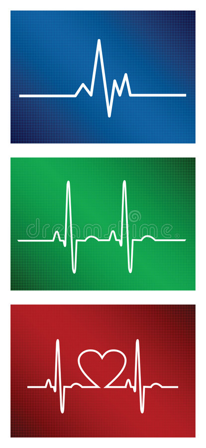 Heartbeat set. Vector heartbeat set... Additional vector format Eps8 (you can very easy edit with separate layers vector illustration