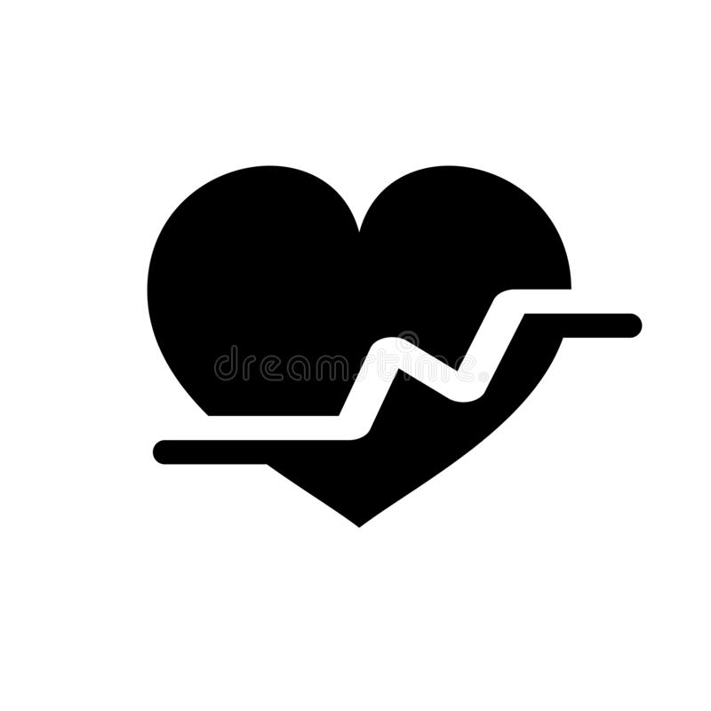 Heartbeat vector icon, Medical heart vector best flat icon, EPS 10 royalty free illustration