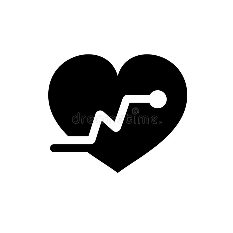 Heartbeat vector icon, Medical heart vector best flat icon, EPS 10 stock illustration