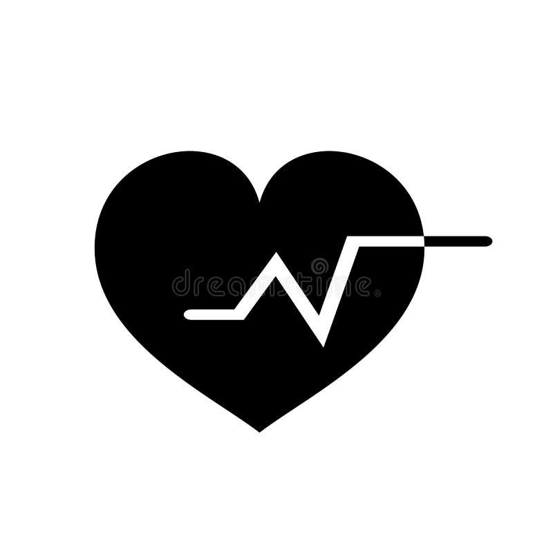 Heartbeat vector icon, Medical heart vector best flat icon, EPS. 10 vector illustration