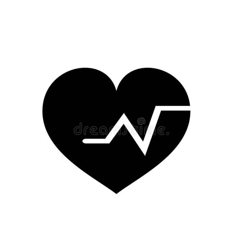 Heartbeat vector icon, Medical heart vector best flat icon, EPS. 10 stock illustration