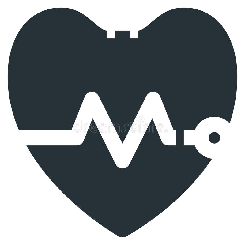 Heartbeat Vector Line Icon 32x32 Pixel Perfect. Editable 2 Pixel. Stroke Weight. Medical Health Icon for Website Mobile App Presentation stock illustration
