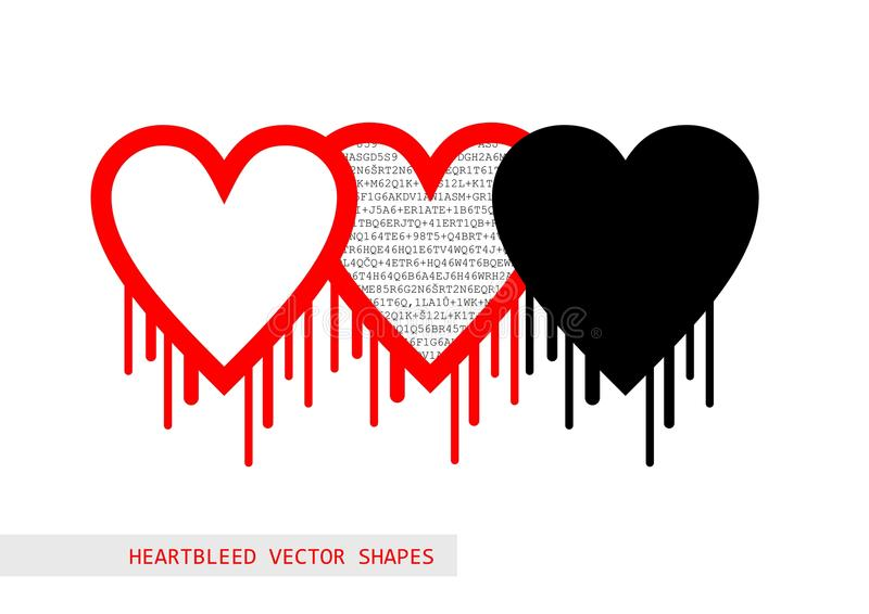 Heartbleed openssl bug vector shape royalty free illustration