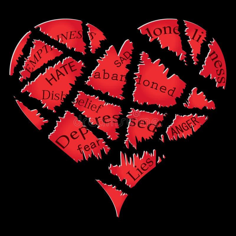 Heartbreak διανυσματική απεικόνιση