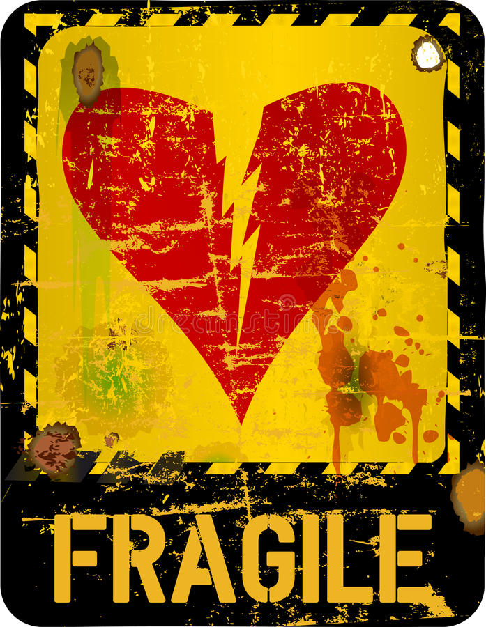 heartbreak, love concept royalty free illustration