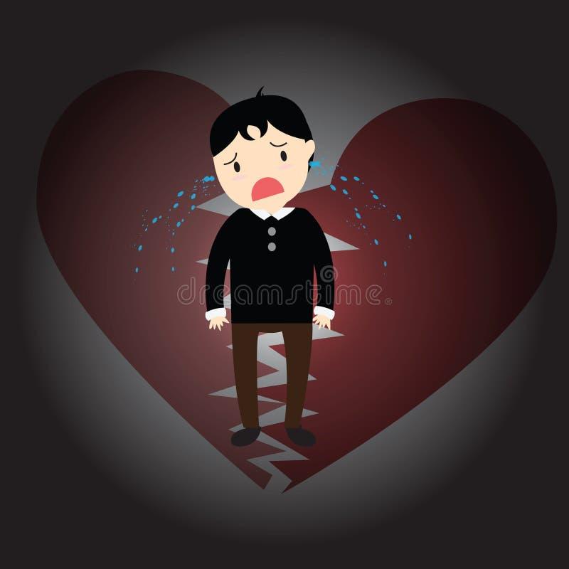 heartbroken ilustração stock