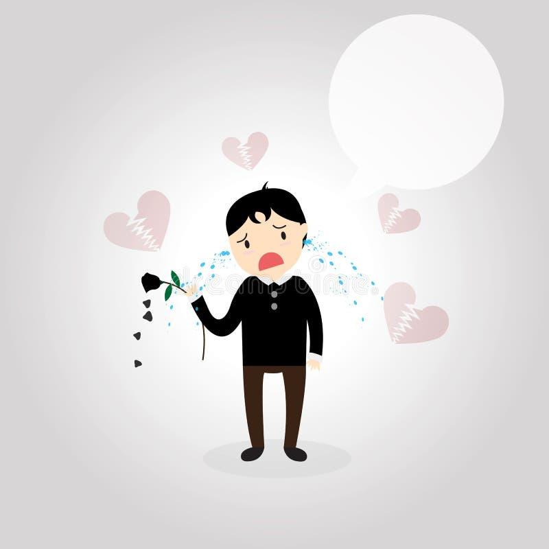 heartbroken ilustração do vetor