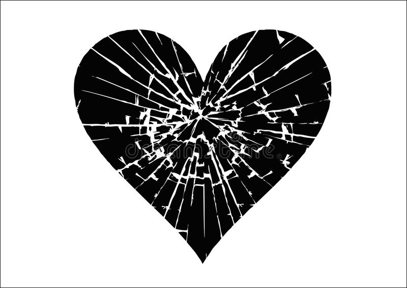 heartbroken ilustração royalty free