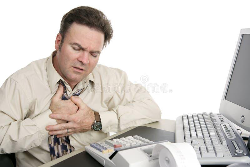 Heartburn sul job fotografia stock