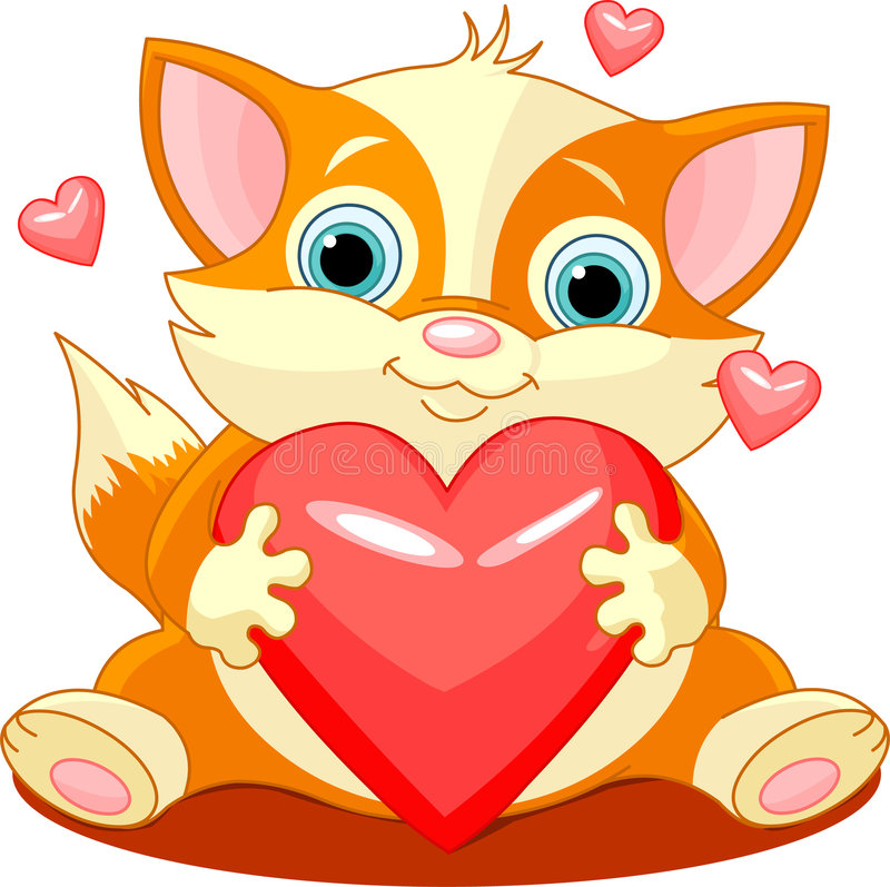 Heartcat ilustração stock