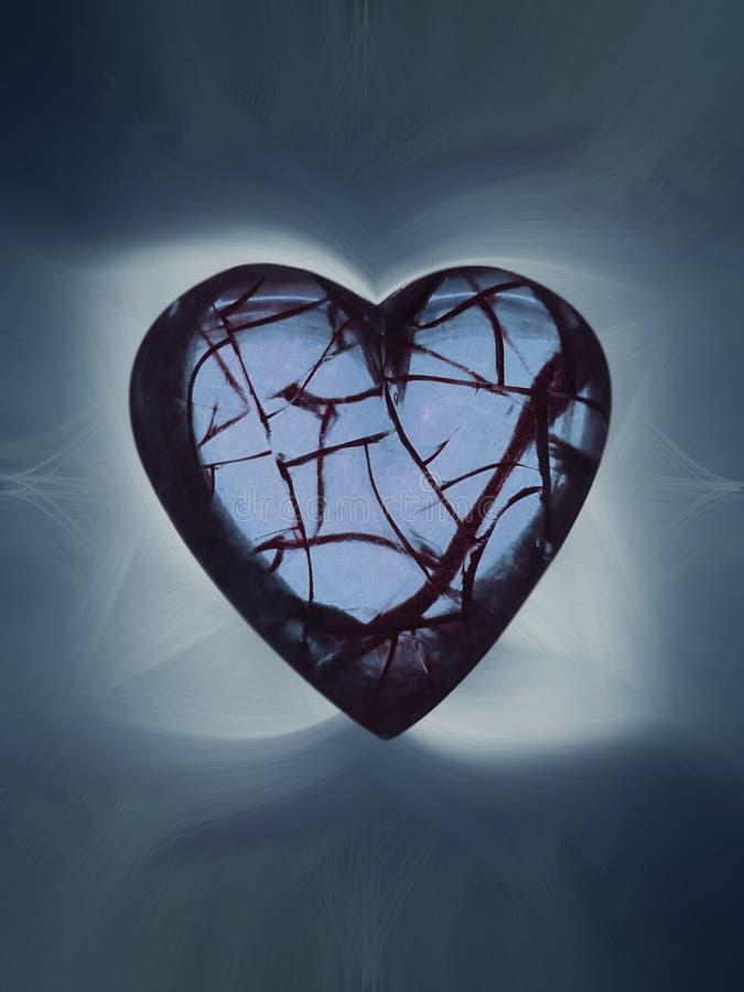 Hearted quebrado ilustração do vetor