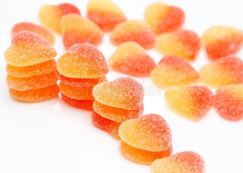 Hearted suikergoed stock afbeeldingen