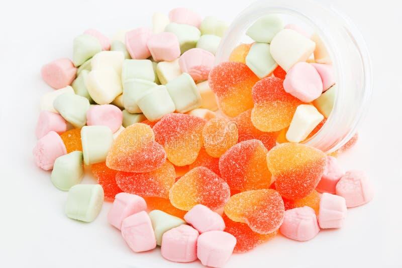 Hearted suikergoed royalty-vrije stock foto's