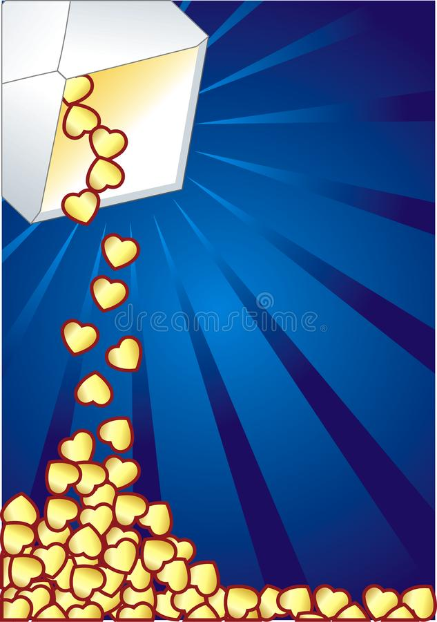 Hearth and envelope royalty free stock photos