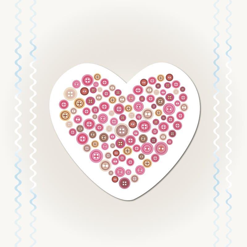 Hearthandmadecard lizenzfreies stockfoto