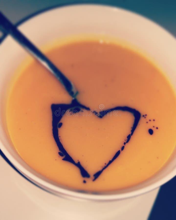 Pumpkin Soup Heart royalty free stock photos