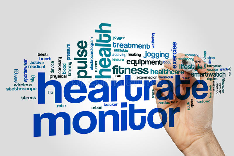 Heartrate monitor word cloud royalty free illustration