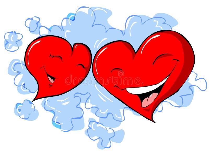 Hearts royalty free illustration