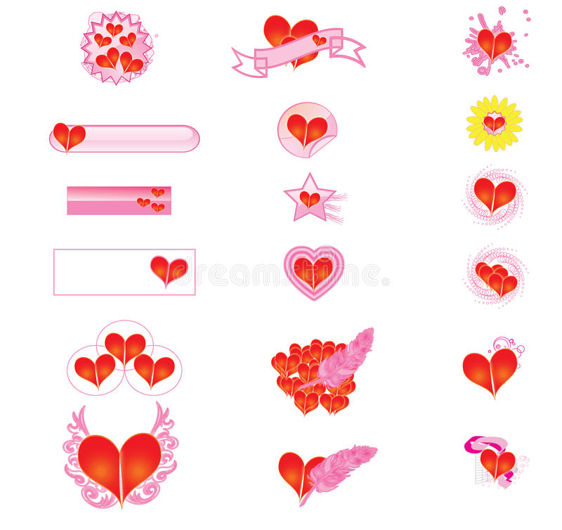Download Hearts stock vector. Illustration of pictures, drawings - 12585212