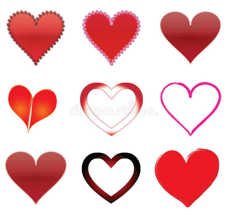 Download Hearts stock vector. Image of designs, heart, artworks - 12585247
